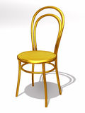 Chair. Golden bistro chair, 3d Illustration Royalty Free Stock Photos