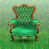 Chair on the grass stock illustration