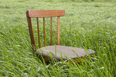 Chair in a grass Royalty Free Stock Photography