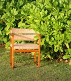 Chair on green bush Royalty Free Stock Image