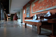 A chair in the corridor Royalty Free Stock Photos