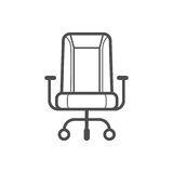 Chair icon. Outline chair icon ,  illustration for web design etc Stock Photo