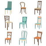 Chair icon set. symbol furniture Stock Images