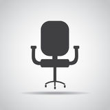 Chair icon with shadow on a gray background. Vector illustration Stock Image
