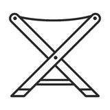 Chair  icon. In simple outline style. This icon are perfect for your websites and applications Stock Photography
