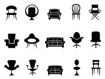 Chair icons royalty free illustration