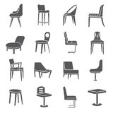 Chair icons Royalty Free Stock Image