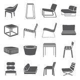Chair icons Stock Photos