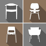 Chair icons set great for any use. Vector EPS10. Stock Image