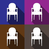 Chair icons set great for any use. Vector EPS10. Stock Photography