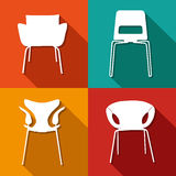 Chair icons set great for any use. Vector EPS10. Royalty Free Stock Photos