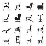 Chair icons Royalty Free Stock Photos