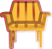 Chair illustration Stock Photography