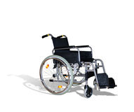 Chair for invalid. Wheelchair for invalids on white Stock Photo
