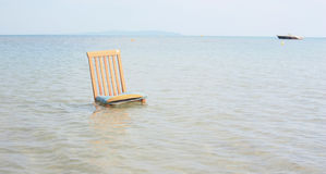 Chair in Ionian sea Stock Image