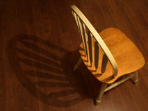 Chair with its shadow royalty free stock photos