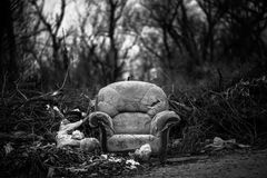 Chair on junkyard Royalty Free Stock Photography