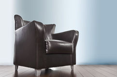 chair läder Arkivfoto