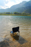 Chair in Lago Cavazzo Royalty Free Stock Image