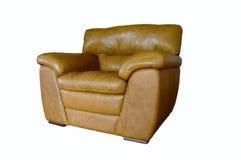 chair leather stuffed Royaltyfria Bilder