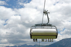 On a chair lift Royalty Free Stock Photography