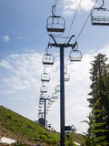 Chair lift above Shirley Lake Stock Photos
