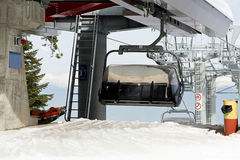 Chair lift cabin Stock Image