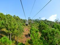 Chair Lift Cable Car. For Tourists in Muree, Pakistan a famous tourist city hill station 35 Km from Islamabad Capital of Pakistan Royalty Free Stock Photos
