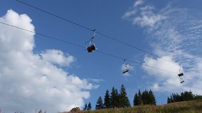 Chair lift Royalty Free Stock Photography