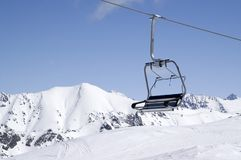 Chair-lift, close-up Stock Photo