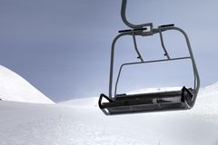 Chair-lift close-up view Royalty Free Stock Photography