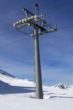 Chair lift column Stock Photos