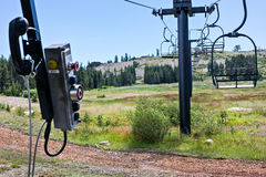 Chair lift and controls Stock Images