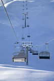 Chair-lift at early morning Royalty Free Stock Photo