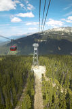 Chair lift and forest in Whistler. British Columbia. Canada Royalty Free Stock Images