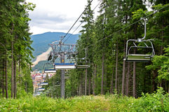 Chair Lift In The Mountains In Summer Royalty Free Stock Images