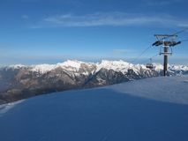 Chair Lift In The Pizol Region Royalty Free Stock Photo