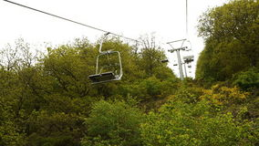 Chair lift point of view stock footage