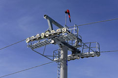 Chair lift pole Royalty Free Stock Photography