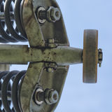 Chair lift pulley Stock Photo