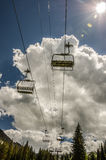 Chair Lift Running Empty in Summer Royalty Free Stock Photography