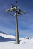 Chair lift shaft Royalty Free Stock Photo