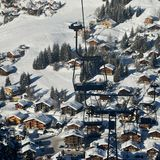 Chair lift Ski resort Stock Photos