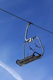 Chair lift at ski resort Royalty Free Stock Images