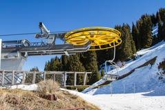 Chair lift at ski resort Stock Photos