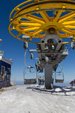 Chair lift at ski resort Stock Image