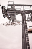 Chair lift at ski resort Zell Am See, Kaprun in Austria Royalty Free Stock Image