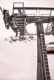 Chair lift at ski resort Zell Am See, Kaprun in Austria. Close up of chair lift at ski resort Royalty Free Stock Image