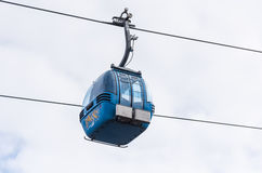Chair lift for skiing royalty free stock photo