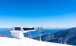 Chair lift for skiing Royalty Free Stock Image